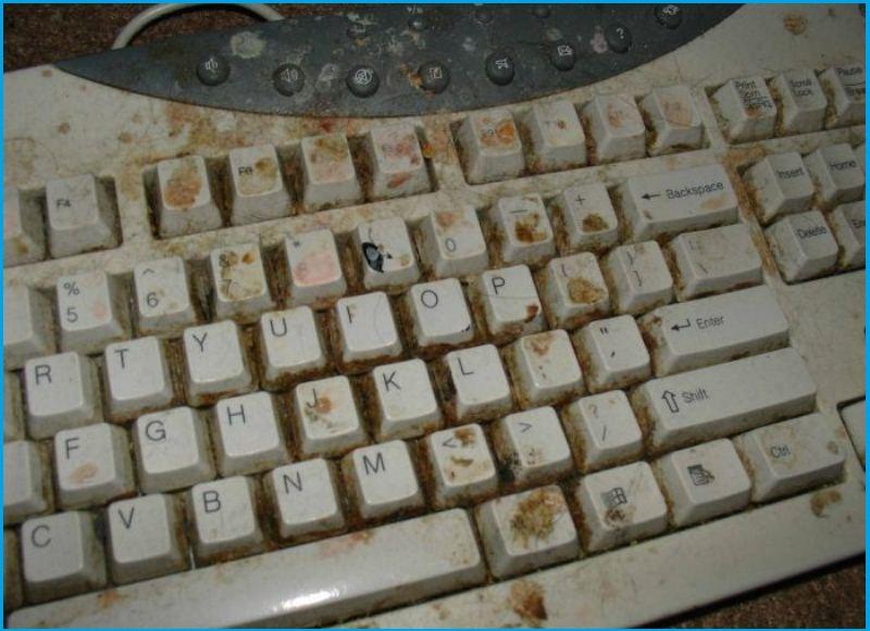Старая, грязная клавиатура