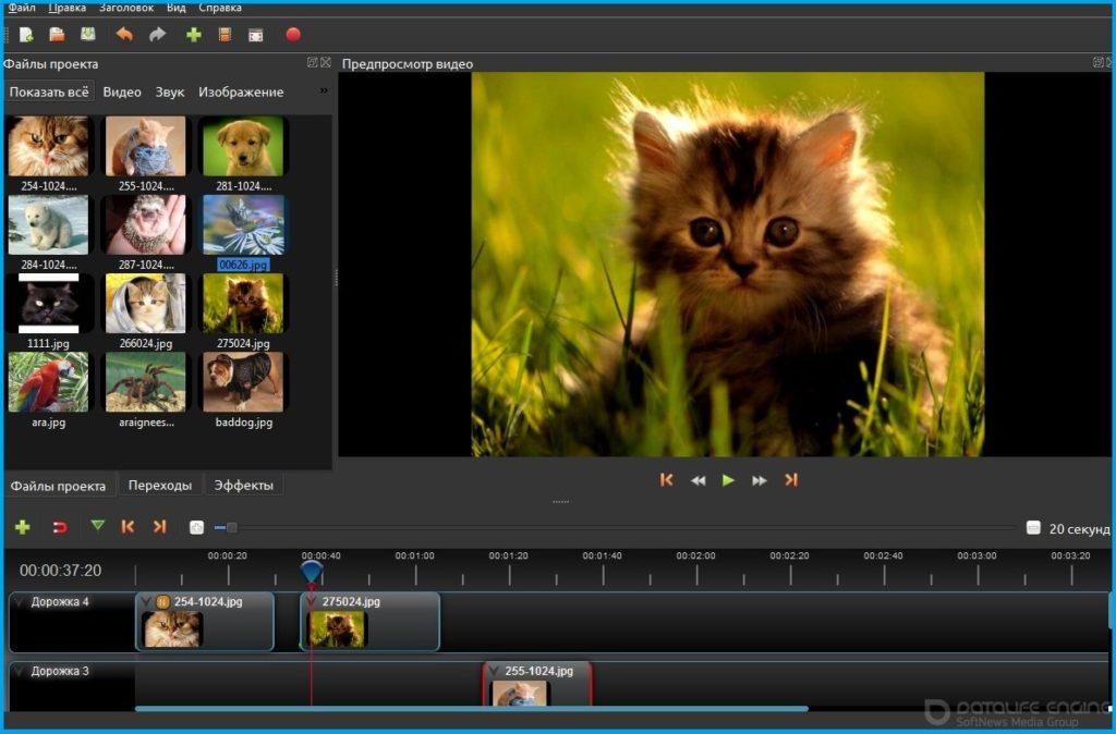 Скриншот видеоредактора