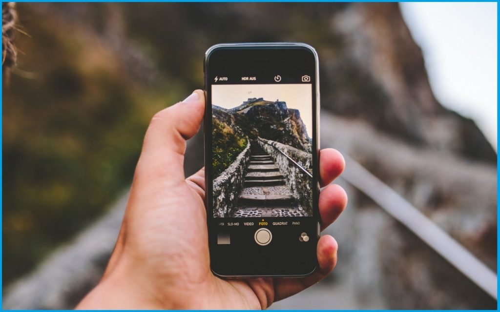 Съёмка с мобильного телефона