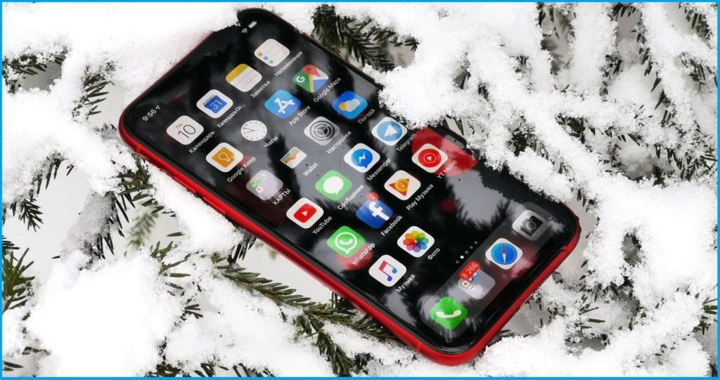 Зарядка телефона при экстремальных низких температурах